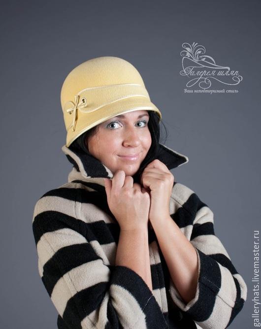 Шляпы ручной работы. Ярмарка Мастеров - ручная работа. Купить шляпа-клош  Спорт. Handmade. Лимонный, шляпа женская, шляпка