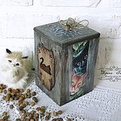 Для дома и интерьера handmade. Livemaster - original item Box for storage of dry food. Handmade.