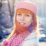 """Аксессуары ручной работы. Ярмарка Мастеров - ручная работа Фетровая шляпка-пилотка """"Standart"""". Розовый коралл. Handmade."""