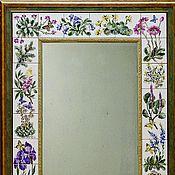 Для дома и интерьера handmade. Livemaster - original item Mirror rock garden Painting ceramic Painting tile. Handmade.