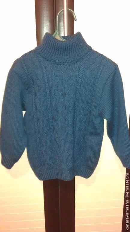 """Кофты и свитера ручной работы. Ярмарка Мастеров - ручная работа. Купить Свитер """"Изумруд"""". Handmade. Пуловер вязаный, детская одежда"""