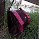 Женские сумки ручной работы. Ярмарка Мастеров - ручная работа. Купить Сумка из замши на длинной ручке. Handmade. Розовый