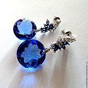Украшения ручной работы. Ярмарка Мастеров - ручная работа Серьги BLUE DREAM - синие топазы, гипоаллергенная фурнитура. Handmade.