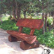 Для дома и интерьера handmade. Livemaster - original item Garden bench made of solid pine - solid log. Handmade.