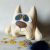 Куклы и игрушки ручной работы. Ярмарка Мастеров - ручная работа Кот кожаный. Handmade.