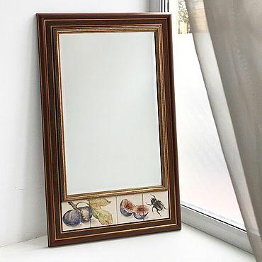Для дома и интерьера ручной работы. Ярмарка Мастеров - ручная работа Зеркала: Жук и фиги. Handmade.