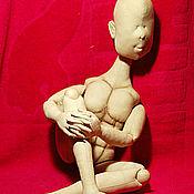 """Материалы для творчества ручной работы. Ярмарка Мастеров - ручная работа Видео курс """"Текстильная шарнирная  кукла-мужчина"""". Handmade."""