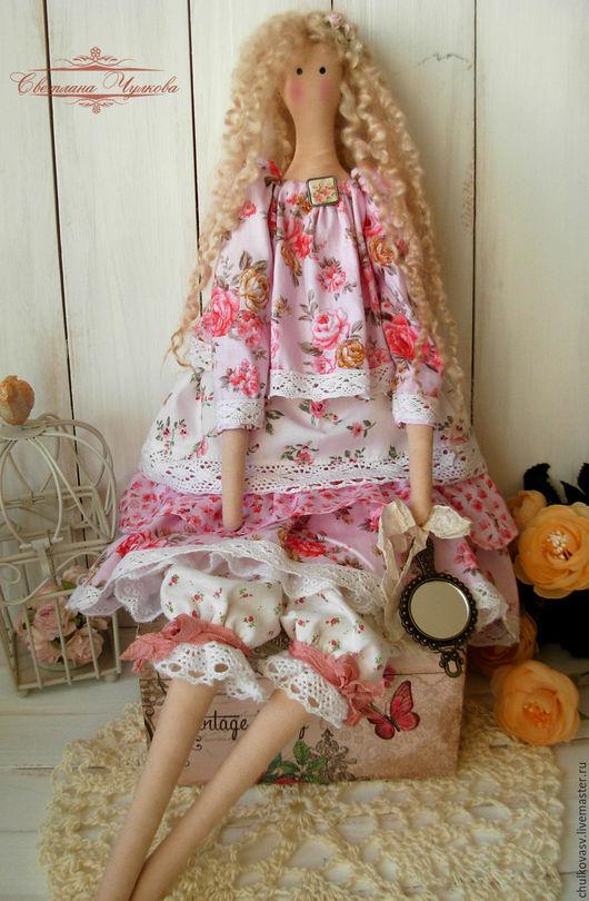 Куклы Тильды ручной работы. Ярмарка Мастеров - ручная работа. Купить Розочка. Весенняя девочка. Handmade. Розовый, кукла в подарок