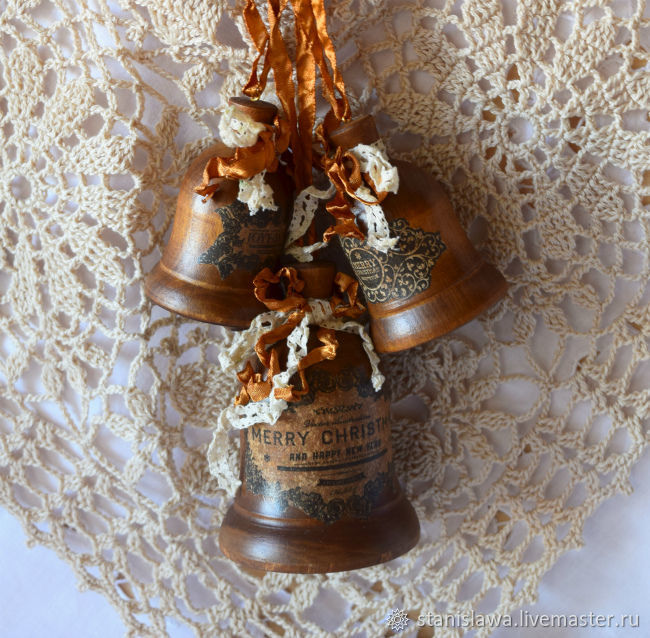 колокольчик, колокольчик новогодний, колокольчик рождественский, новый год, рождество, МиЛена декор