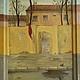 Картина `2 мая (утро)`, х/м, переходящая на деревянный багет рамы.