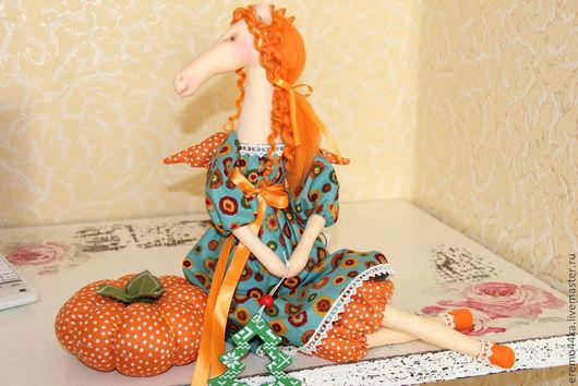 """Куклы Тильды ручной работы. Ярмарка Мастеров - ручная работа. Купить Рыжуля """"Солнышко"""". Handmade. Рыжий, лошади, новогоднее украшение"""