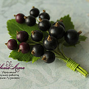 Украшения handmade. Livemaster - original item Brooch with currants polymer clay