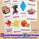 Развивающие Карточки Домана + Азбука с загадками, Кукольная еда, Новочеркасск,  Фото №1