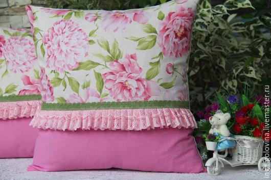 Текстиль, ковры ручной работы. Ярмарка Мастеров - ручная работа. Купить Декоративные наволочки В моем саду - всегда пионы. Handmade.