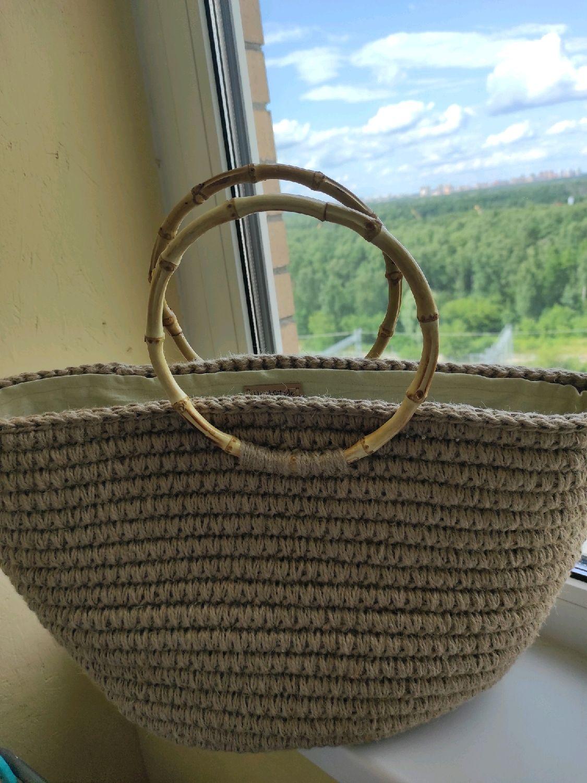 Вязаная летняя сумка, Сумка-шоппер, Москва,  Фото №1