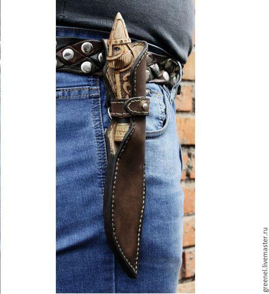 """Оружие ручной работы. Ярмарка Мастеров - ручная работа. Купить Нож """"Всевидящий"""" с дубовой рукоятью. Handmade. Комбинированный, дамаск, дамаск"""