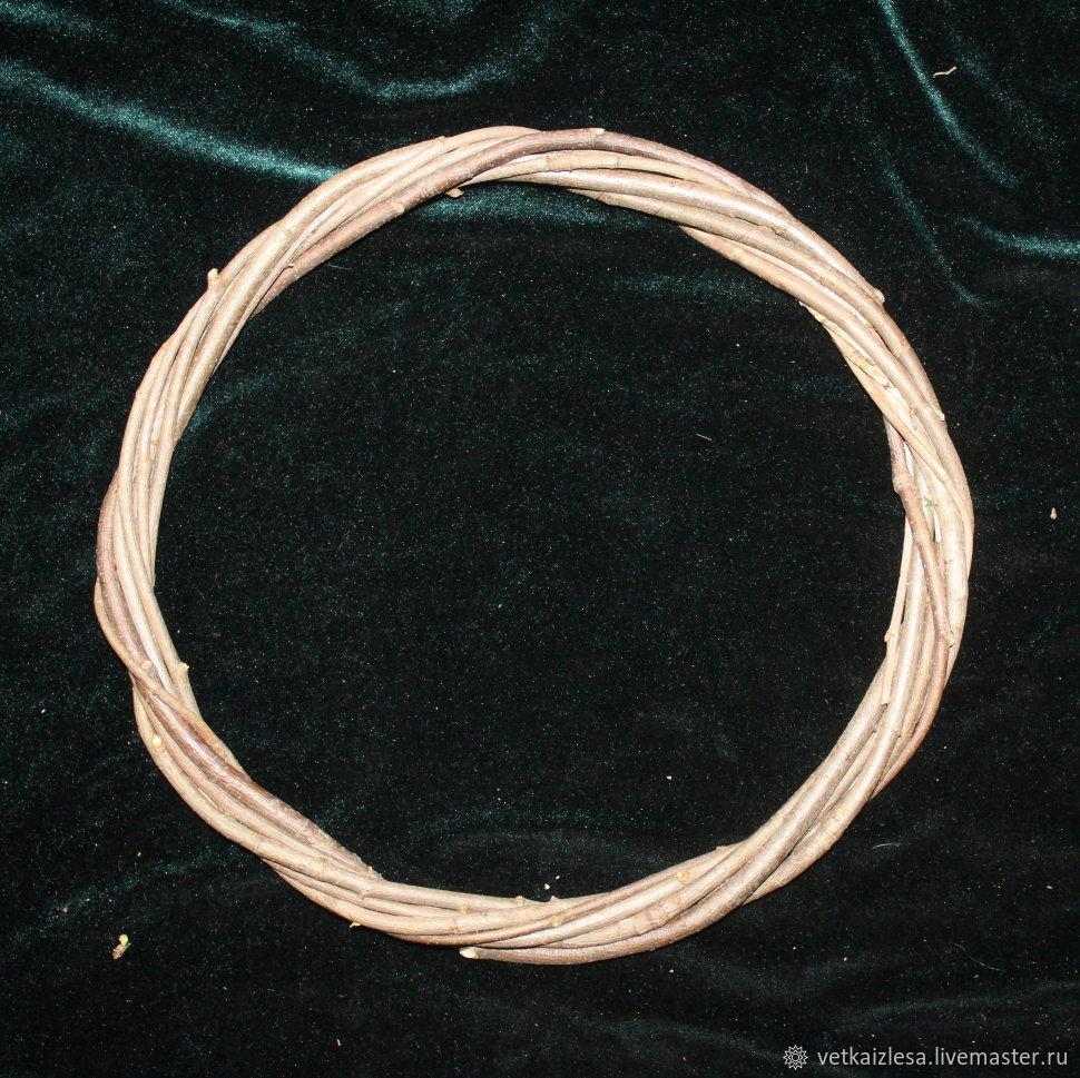 Основа для ловца снов из веток рябины, 20-29 см