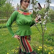 """Одежда ручной работы. Ярмарка Мастеров - ручная работа ярко-зелёный шерстяной костюм """"Любовь"""". Handmade."""
