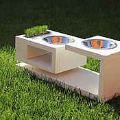 Подставки для мисок ручной работы. Ярмарка Мастеров - ручная работа Подставка под миски для домашних животных. Handmade.