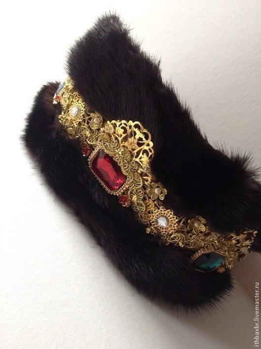 """Диадемы, обручи ручной работы. Ярмарка Мастеров - ручная работа. Купить Повязка-корона""""Sicilian princess"""" в стиле DG. Handmade."""