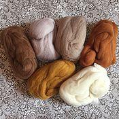 Шерсть ручной работы. Ярмарка Мастеров - ручная работа Набор шерсти для кукольных причёсок 7 цветов. Handmade.