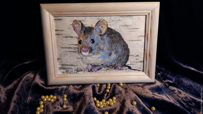 Картина  на бересте Толстый мышь, Картины, Москва, Фото №1
