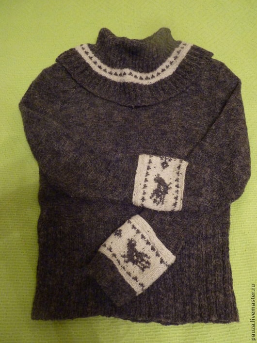"""Кофты и свитера ручной работы. Ярмарка Мастеров - ручная работа. Купить Свитер из полушерсти """"Зимушка"""". Handmade. Темно-серый"""