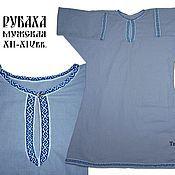 Русский стиль ручной работы. Ярмарка Мастеров - ручная работа Славянская мужская рубаха из льна. Handmade.