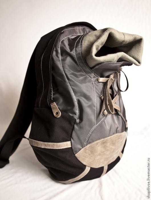 """Рюкзаки ручной работы. Ярмарка Мастеров - ручная работа. Купить Рюкзак """"Кроссовок"""". Handmade. Рюкзак с кожаной отделкой, кожа натуральная"""
