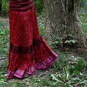"""Одежда ручной работы. Ярмарка Мастеров - ручная работа Льняная нижняя юбочка """" Узорная"""". Handmade."""
