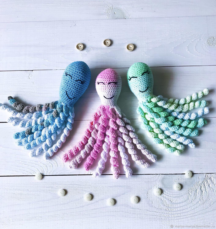 Чудо осьминог вязаный для новорожденных (недоношенных) детей, Браслеты, Псков, Фото №1