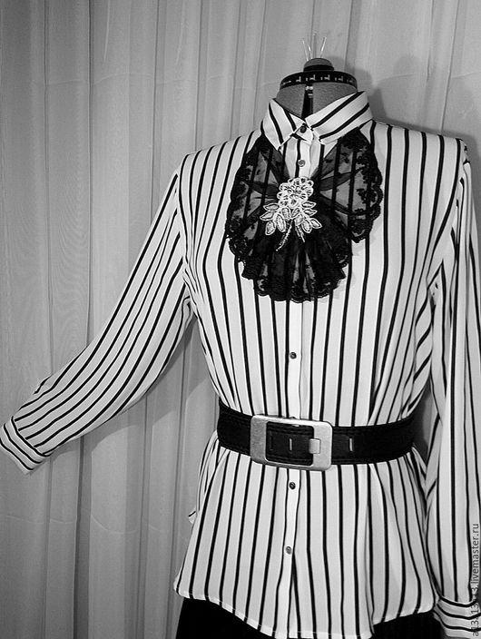 Блузки ручной работы. Ярмарка Мастеров - ручная работа. Купить Рубашка У-104. Handmade. Чёрно-белый, блуза