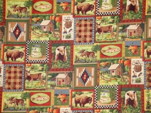 Шитье ручной работы. Ярмарка Мастеров - ручная работа. Купить 641 Остаток.  Американская ткань. Handmade. Зеленый, ткань