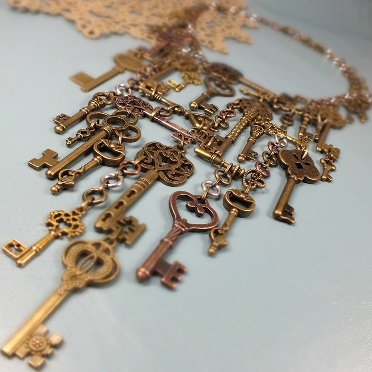 38 Keys. Necklace, Necklace, St. Petersburg,  Фото №1