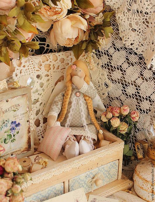 Куклы Тильды ручной работы. Ярмарка Мастеров - ручная работа. Купить Ангелочек сладких снов сонный ангел Тильда сплюшка кукла текстильная. Handmade.