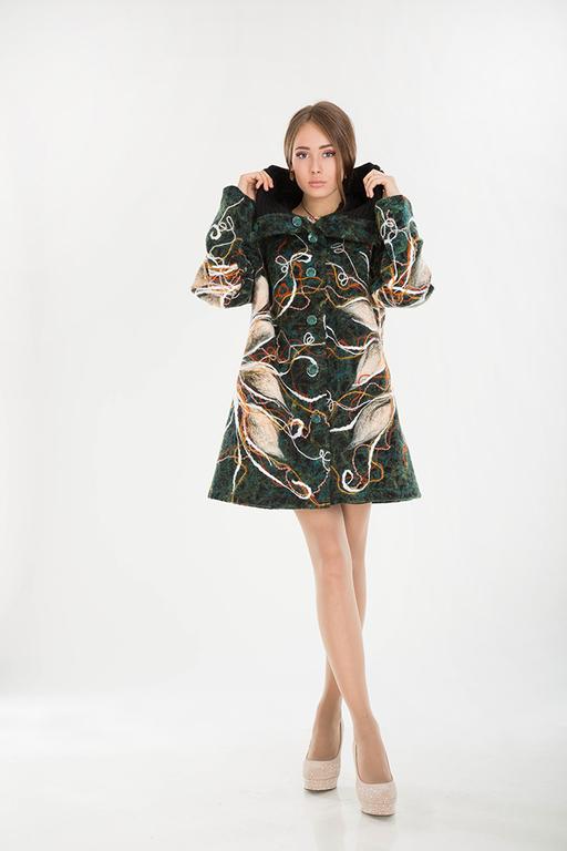 Верхняя одежда ручной работы. Ярмарка Мастеров - ручная работа. Купить ПП 32. Handmade. Цветочный, мода для полных