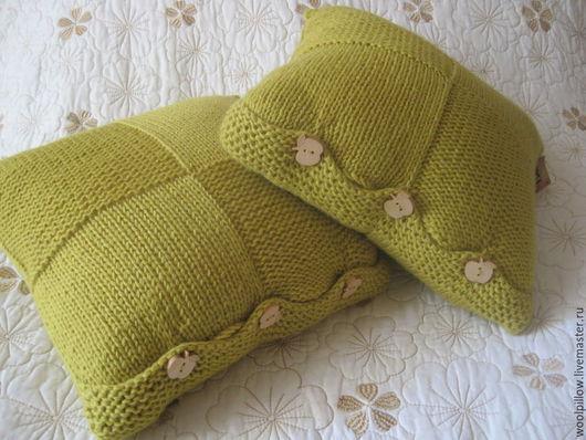 Текстиль, ковры ручной работы. Ярмарка Мастеров - ручная работа. Купить Комплект из 2х  подушек. Handmade. Желтый, подушка на диван