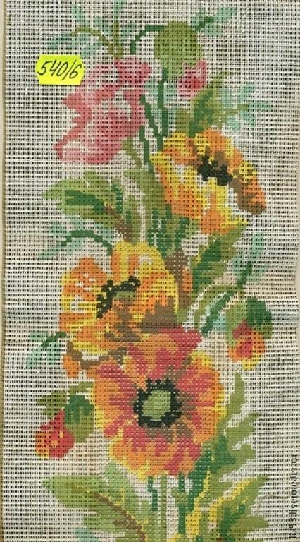 Вышивка ручной работы. Ярмарка Мастеров - ручная работа. Купить Набор для вышивания итальянской фирмы 540/6. Handmade. Разноцветный, цветы