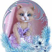 Куклы и игрушки handmade. Livemaster - original item Cat.THE TOY IS MADE OF WOOL.. Handmade.
