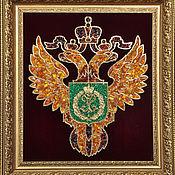 Подарки к праздникам handmade. Livemaster - original item The emblem of the FFA amber. Handmade.