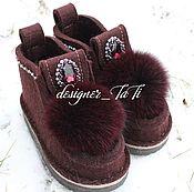 """Обувь ручной работы. Ярмарка Мастеров - ручная работа Валенки, модель """"Зимняя вишня"""". Handmade."""