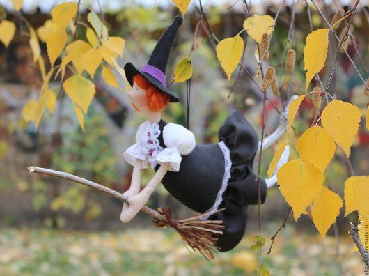Сказочные персонажи ручной работы. Ярмарка Мастеров - ручная работа. Купить Hello, Halloween!!. Handmade. Черный, ведьма, помело