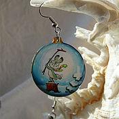Украшения handmade. Livemaster - original item Earrings Christmas ball. Handmade.