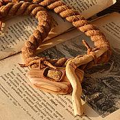 Украшения handmade. Livemaster - original item Necklace: wood and leather