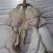 Куклы и игрушки ручной работы. Ярмарка Мастеров - ручная работа Интерьерная текстильная кукла Ангелы-неразлучники маленькие. Handmade.
