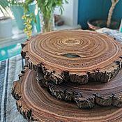 Для дома и интерьера handmade. Livemaster - original item stand: Wooden round saws for serving. Handmade.