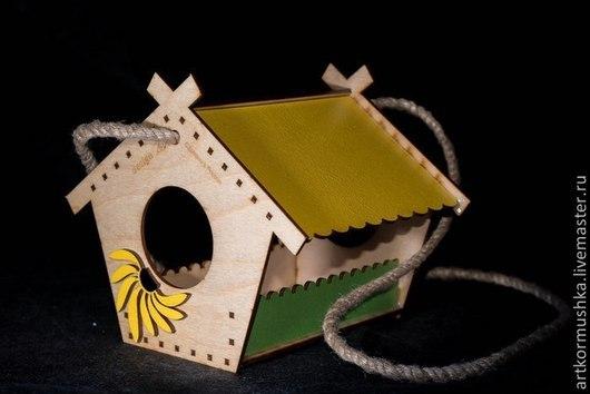 Кормушка для птиц `Теремок - подсолнух`