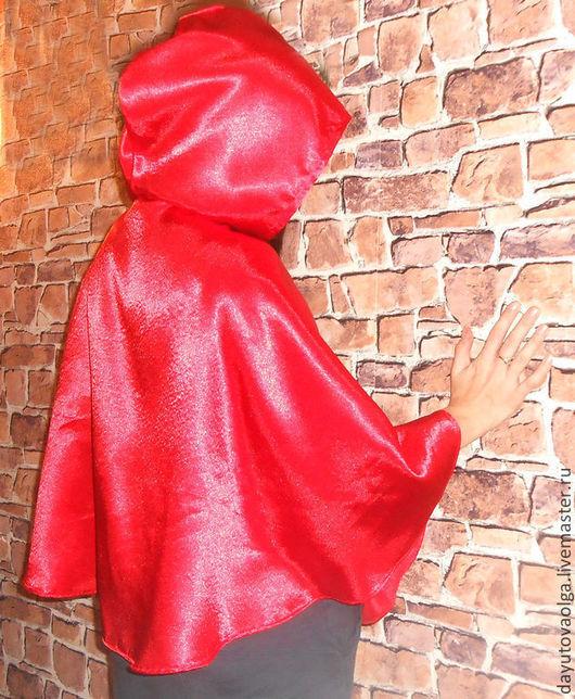 """Карнавальные костюмы ручной работы. Ярмарка Мастеров - ручная работа. Купить Накидка """"Красная шапочка"""". Handmade. Ярко-красный"""