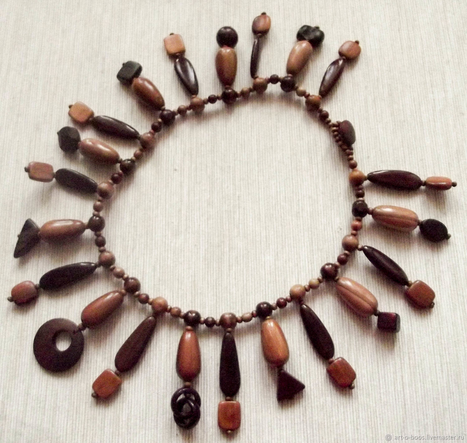 "Wooden necklace ""Rod and cone cells"", Necklace, Moscow,  Фото №1"