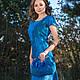 """Платья ручной работы. Валяный комплект  """"Bleu Ciel"""". Stela Style. Интернет-магазин Ярмарка Мастеров. Платье, валяное платье"""